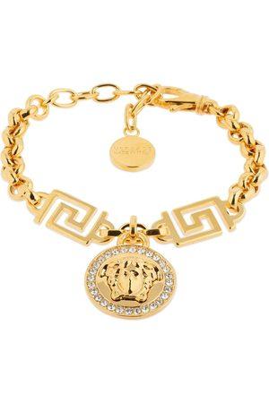 VERSACE Icon Crystal Medusa Charm Bracelet