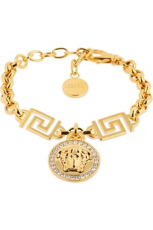VERSACE Women Bracelets - Icon Medusa Crystal Charm Bracelet