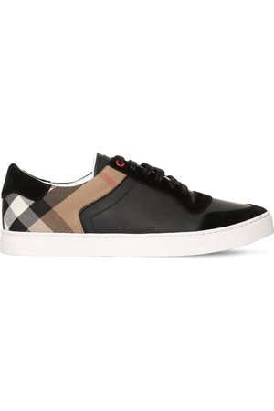 Burberry Newport Check Canvas & Leather Sneakers