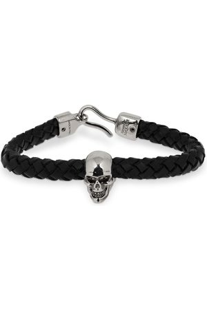 Alexander McQueen Men Bracelets - Skull Leather Bracelet