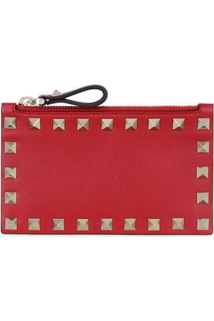 VALENTINO GARAVANI Women Wallets - Rockstud Leather Card Holder