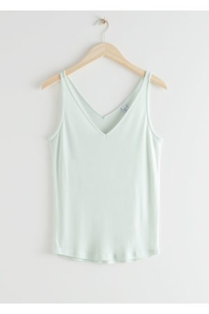 & OTHER STORIES Women Tops - Ribbed V-Neck Top