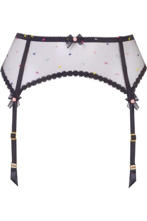 Agent Provocateur Poppie Suspender In With Multi Colour Spots