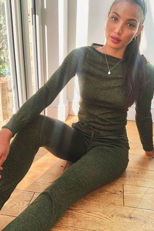 Boohoo Womens Tall Light Weight Knit Slash Neck Lounge Set - - 2