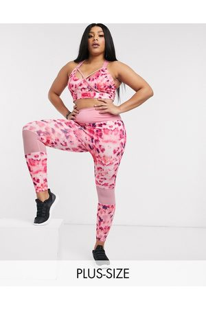 Wolf & Whistle Curve Eco leggings in petal print