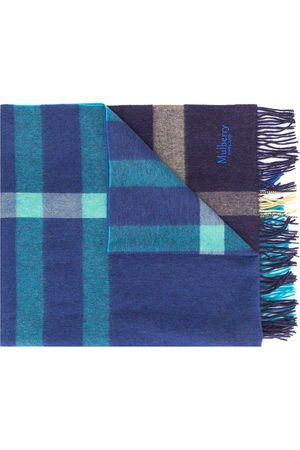 MULBERRY Men Scarves - Checked fringed scarf