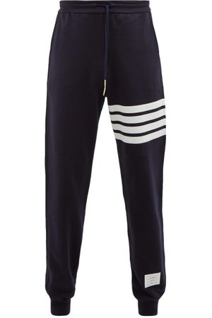 Thom Browne Striped Cotton Track Pants - Mens - Navy