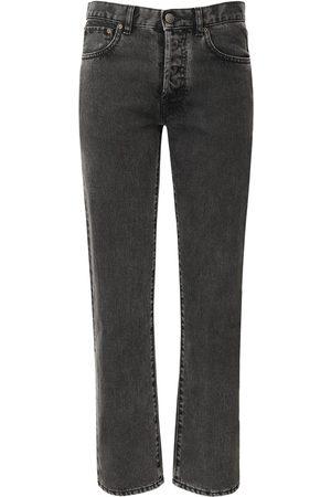 Maison Margiela Cropped Cotton Denim Jeans