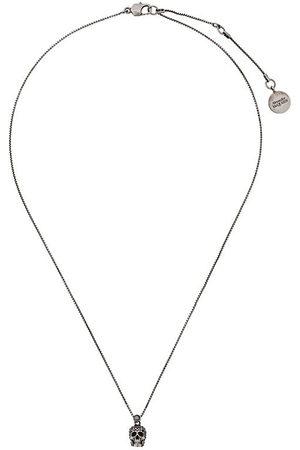 Alexander McQueen Women Necklaces - Pave skull pendant necklace