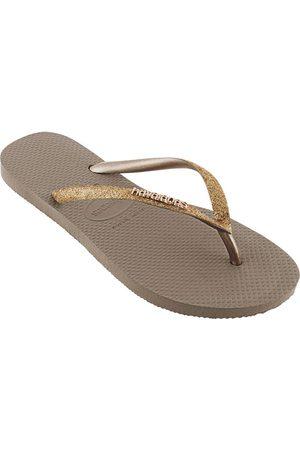 Havaianas Women Flip Flops - Slim Glitter EU 41-42 Rose Gold