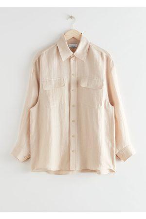 & OTHER STORIES Oversized Linen Shirt