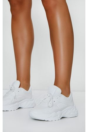 PRETTYLITTLETHING Chunky Retro Sole Knitted Panel Detail Sneakers