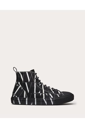 VALENTINO GARAVANI Vltn Times Giggies High-top Fabric Sneaker Man / Cotton 100% 42