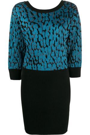 Roberto Cavalli Leopard-spot knitted dress