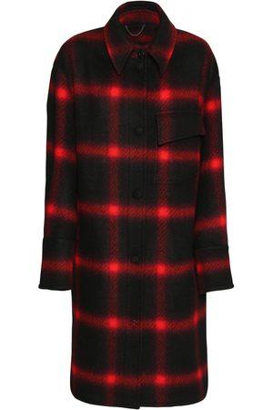 Stella McCartney Check Wool Flannel Knee Length Coat