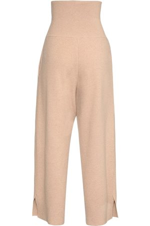 Stella McCartney High Waist Wool Knit Wide Leg Pants