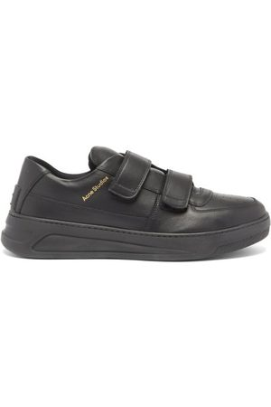 Acne Studios Perey Velcro Leather Trainers - Mens