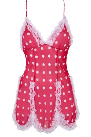 Agent Provocateur Ismay Slip In & Polka Dots With Fluffy Trim