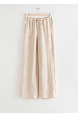 & OTHER STORIES Flared Linen Blend Trousers