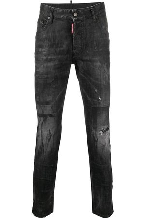 Dsquared2 Men Skinny - Coated cropped skinny jeans