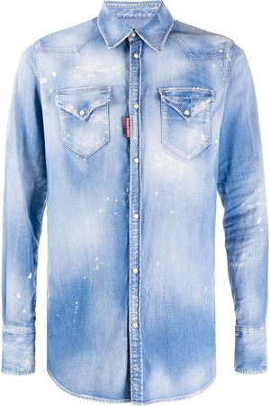 Dsquared2 Men Denim - Faded denim shirt