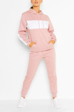 Boohoo Womens Woman Embroidered Colour Block Stripe Tracksuit - - 6
