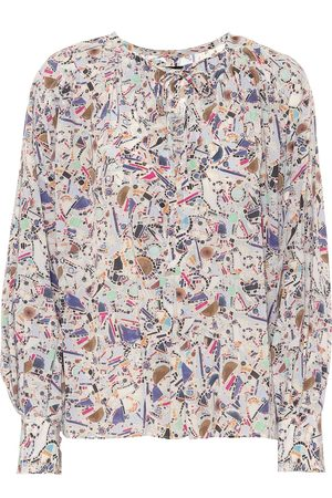 Isabel Marant Amba printed stretch-silk blouse