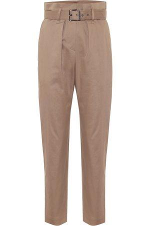 Brunello Cucinelli High-rise cotton paperbag pants