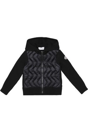 Moncler Down and wool zip-up cardigan