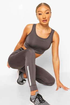 Boohoo Womens Active Compression Tight With Panel - - 2