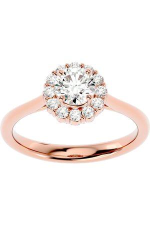 SuperJeweler 1 Carat Halo Diamond Engagement Ring in 14K (3.80 g) (