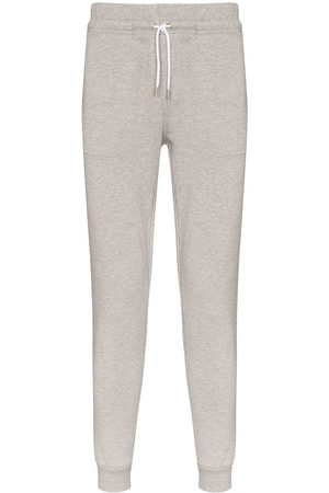 Maison Kitsuné Logo-appliqued cotton sweatpants - Grey