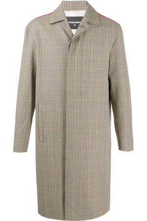 Dsquared2 Side panelled midi coat - Neutrals