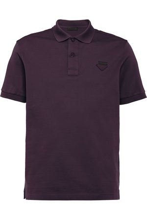 Prada Men Polo Shirts - Logo plaque polo shirt