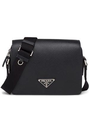 Prada Men Bags - Triangle logo shoulder bag