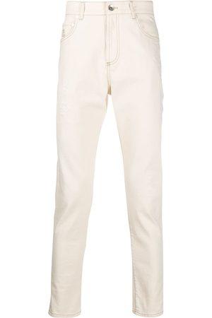 Brunello Cucinelli Lightly distressed skinny jeans - Neutrals