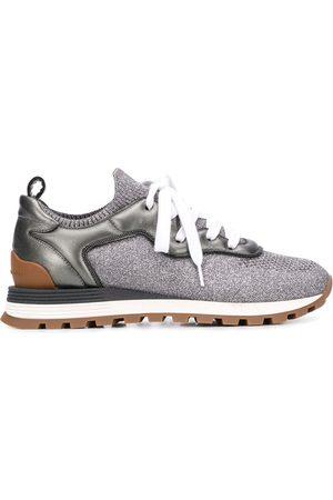 Brunello Cucinelli Sparkling knit sneakers - Grey