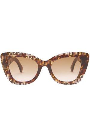 Fendi Women Square - Ff Cat-eye Tortoiseshell-acetate Sunglasses - Womens