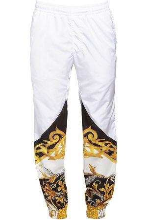 VERSACE Baroque Print Nylon Track Pants