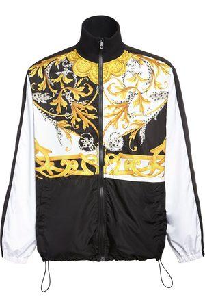 VERSACE Baroque Print Nylon Track Jacket