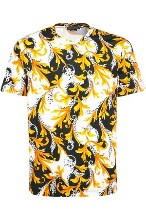 VERSACE Baroque Print Stretch Cotton T-shirt