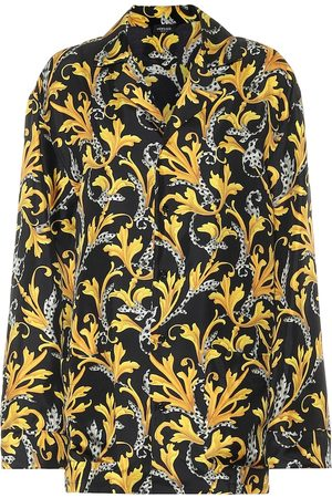 VERSACE Printed silk pajama top