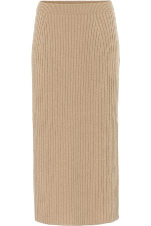 Loro Piana Tribeca ribbed-knit cashmere midi skirt