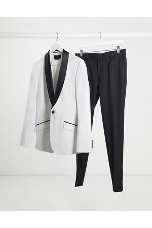 ASOS Suits - Super skinny tuxedo suit jacket in with black lapel