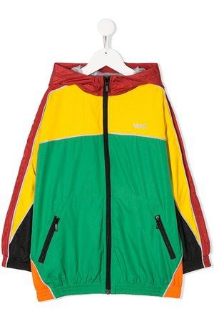 Molo Colour-block hooded jacket