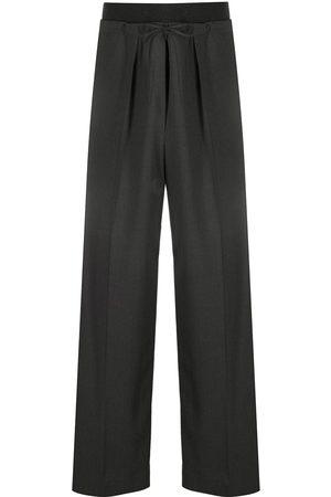 Brunello Cucinelli Women Wide Leg Pants - Contrasting waistband wide-leg trousers - Grey