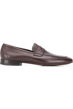 corneliani Men Loafers - Almond toe leather loafers