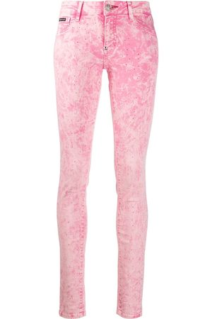 Philipp Plein Acid-wash skinny jeans