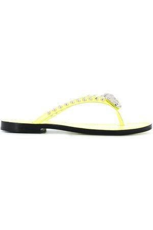 Philipp Plein Studded flip flops