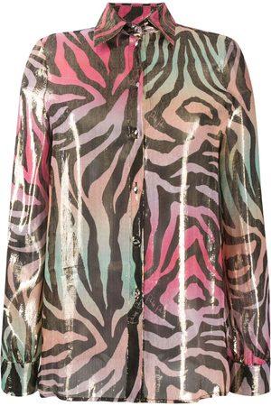 Philipp Plein Metallic animal-print shirt
